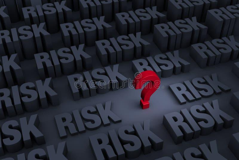 S'est inquiété du risque croissant illustration stock