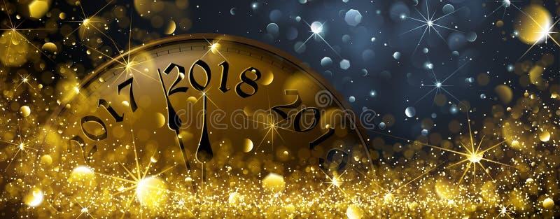 ` S Eve 2018 del Año Nuevo stock de ilustración