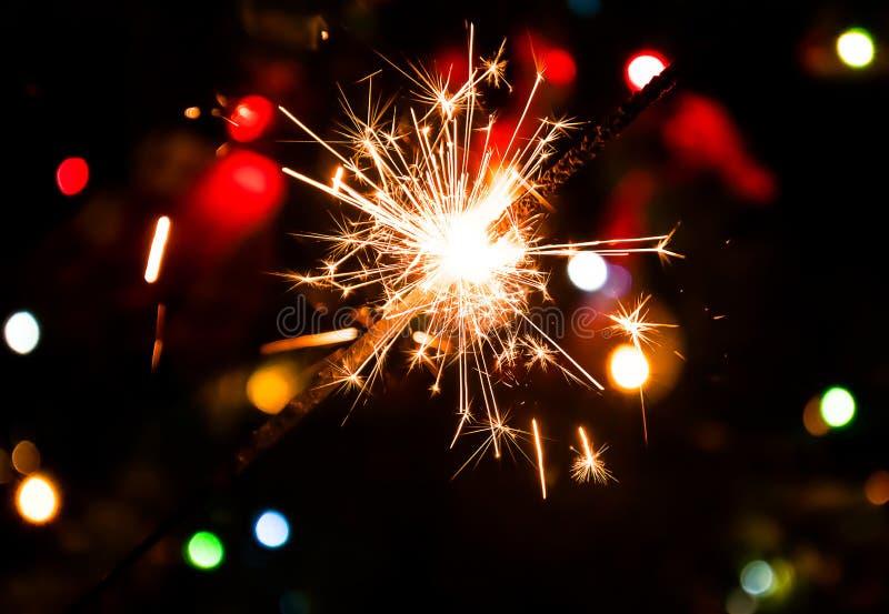 ` S EVE del nuovo anno degli spruzzatori immagine stock libera da diritti