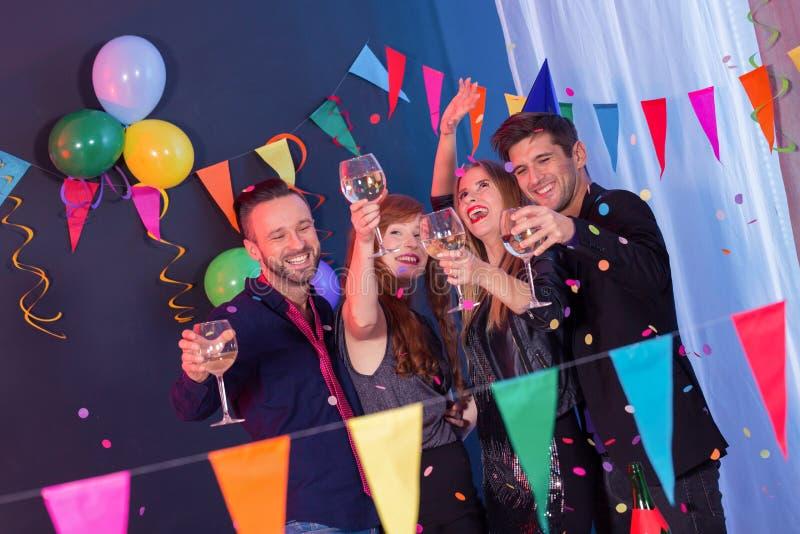 ` S Eve Party del Año Nuevo fotos de archivo libres de regalías