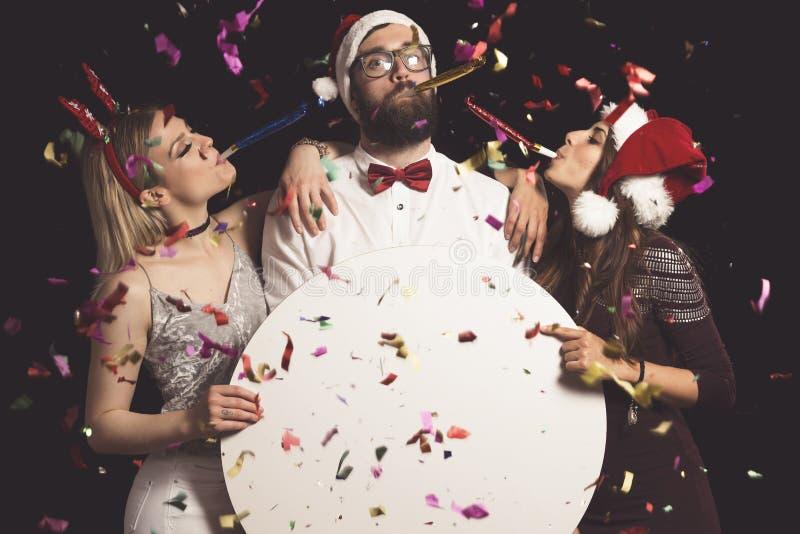 ` S Eve Party del A?o Nuevo fotos de archivo libres de regalías