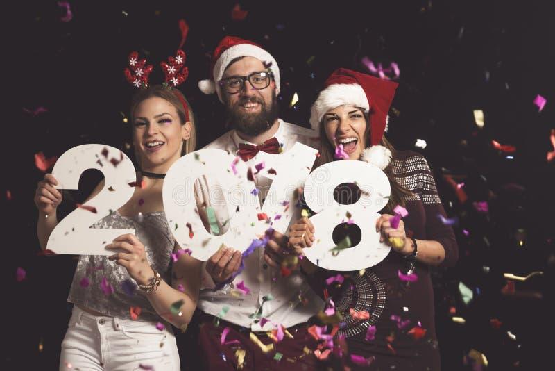 ` S Eve Party do ano novo fotos de stock