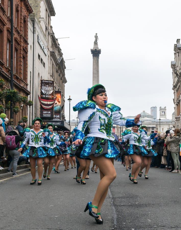 ` S för St Patric ståtar i London fotografering för bildbyråer