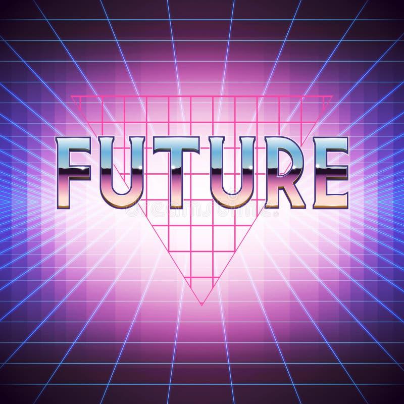 80s fantastyka naukowa Retro tło z Placeholder ilustracji