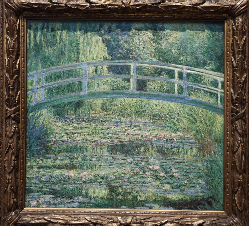 The Water lily pond by Claude Monet , 1899 royalty free stock photography