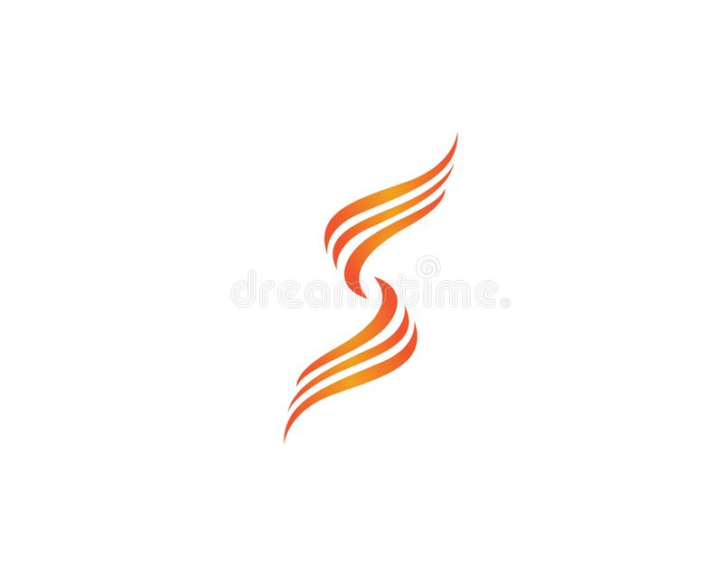 S Fire flame nature logo and symbols icons template stock illustration