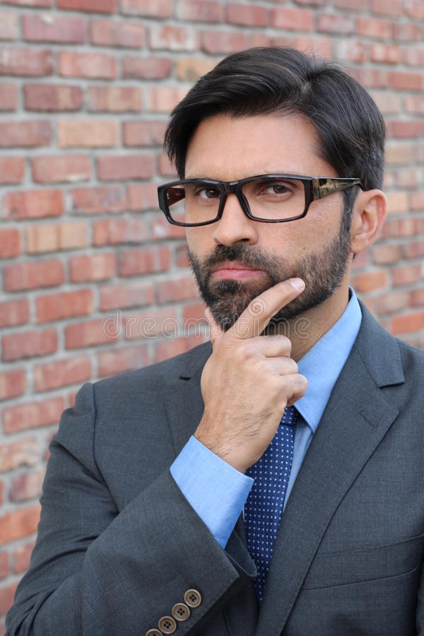 He`s focused and ready for anything - Stock image stock photos