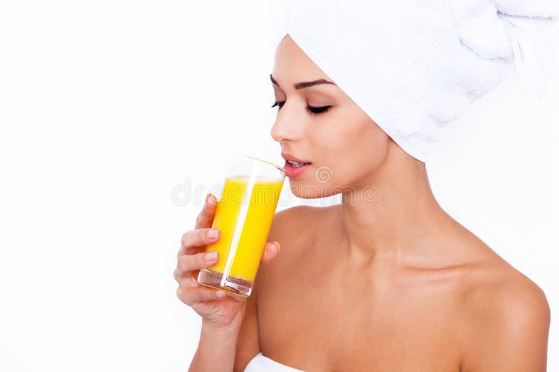 It's freshly squeezed! royalty free stock image