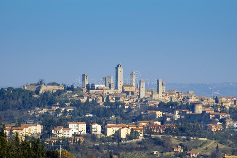 S.Gimignano, Italia immagine stock