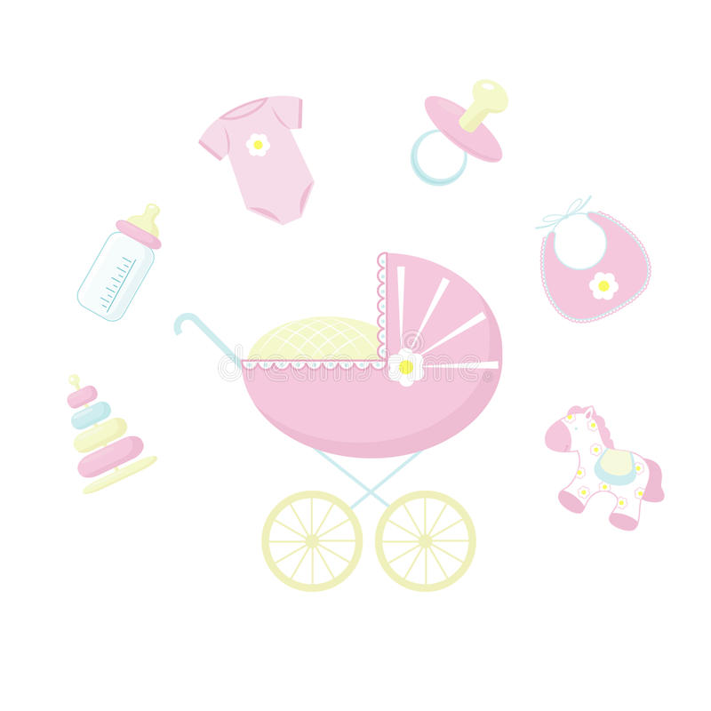 Download It´s girl stock vector. Image of icon, bear, design, flower - 12490057