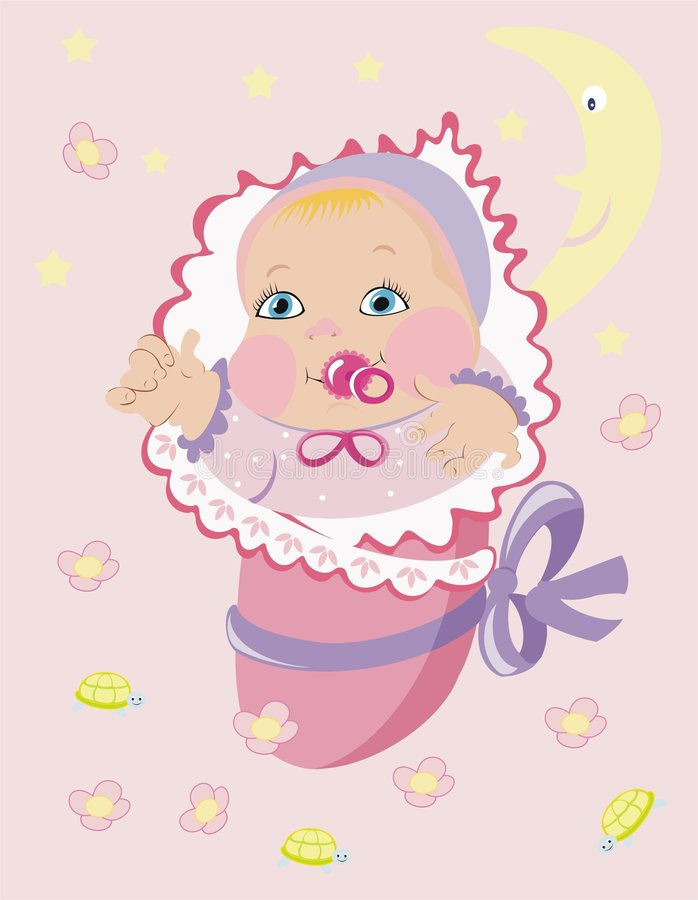 Download It´s a girl!!! stock vector. Image of background, bear - 4277329