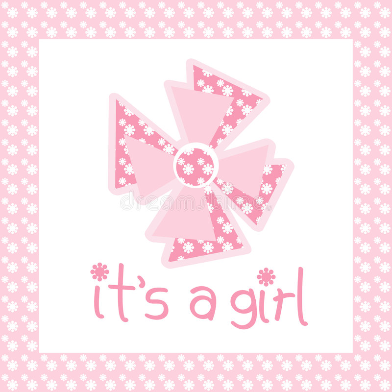 Download It's a girl stock illustration. Illustration of happy - 8576575