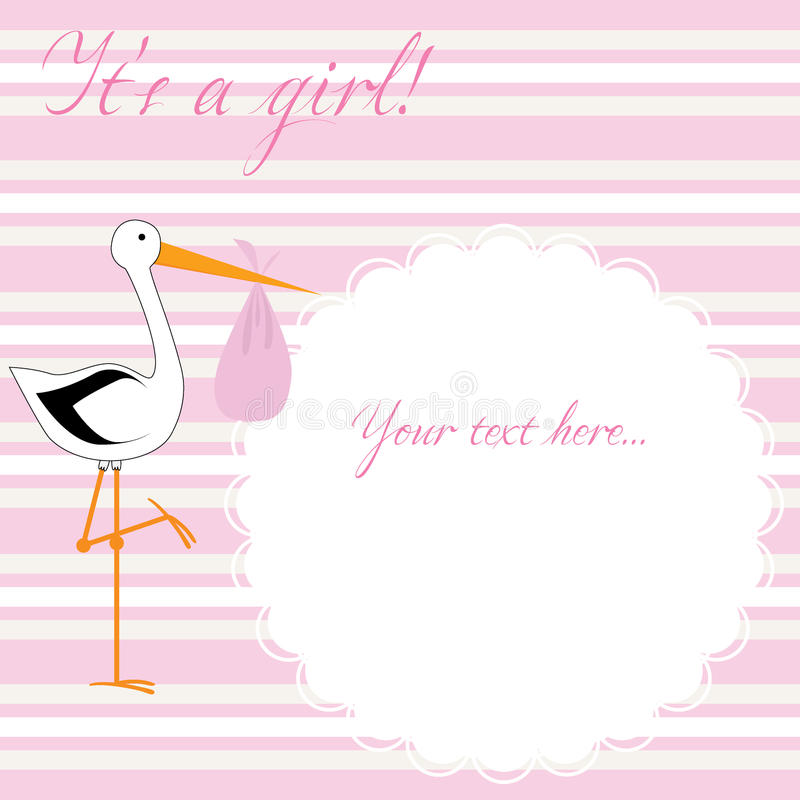 Download It's A Girl! - Pink Stripes Stock Vector - Image: 22562055