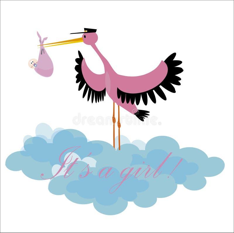 Download It's a girl stock illustration. Illustration of boys - 35944973