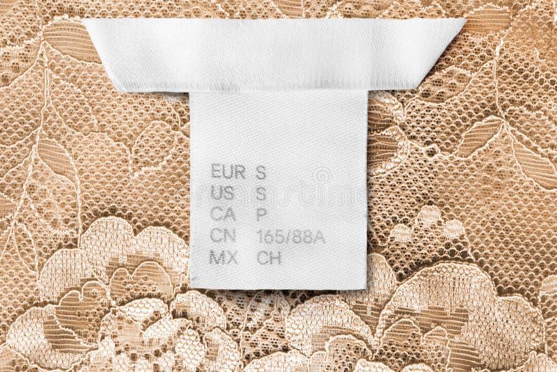 S-Größenkleidung labe lizenzfreies stockfoto