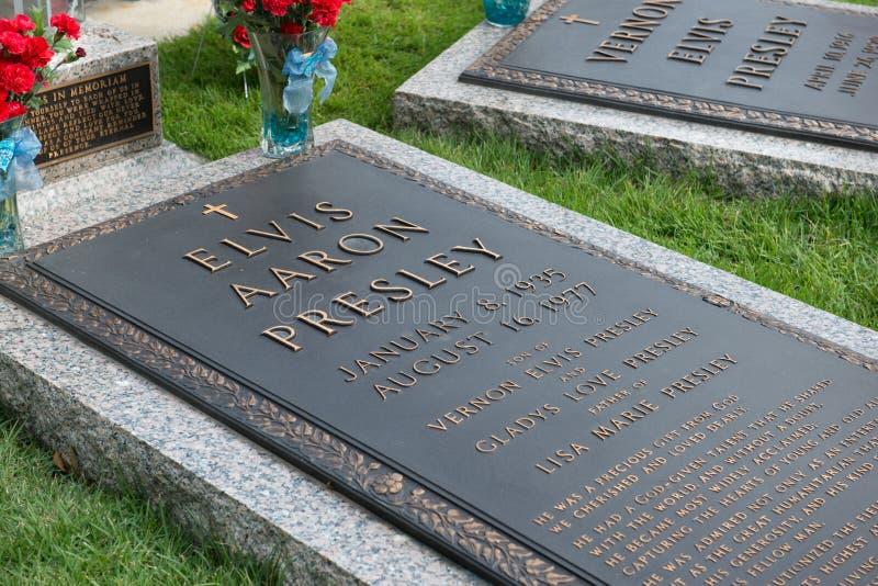 ` S Graceland grave Memphis Tennessee de Elvis Presley fotografia de stock