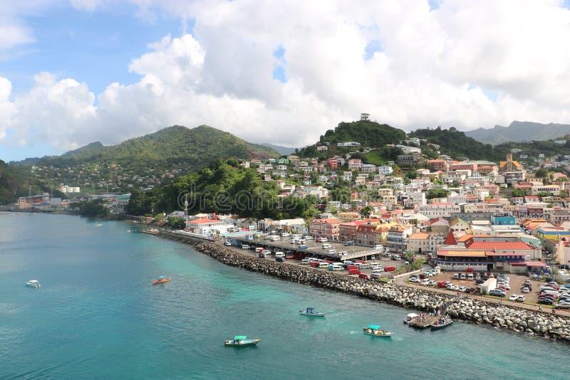 ` S, Grenada de San Jorge imágenes de archivo libres de regalías