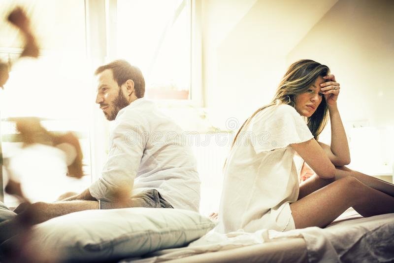 It`s heartbreaking to have a troubled relationship. royalty free stock photography