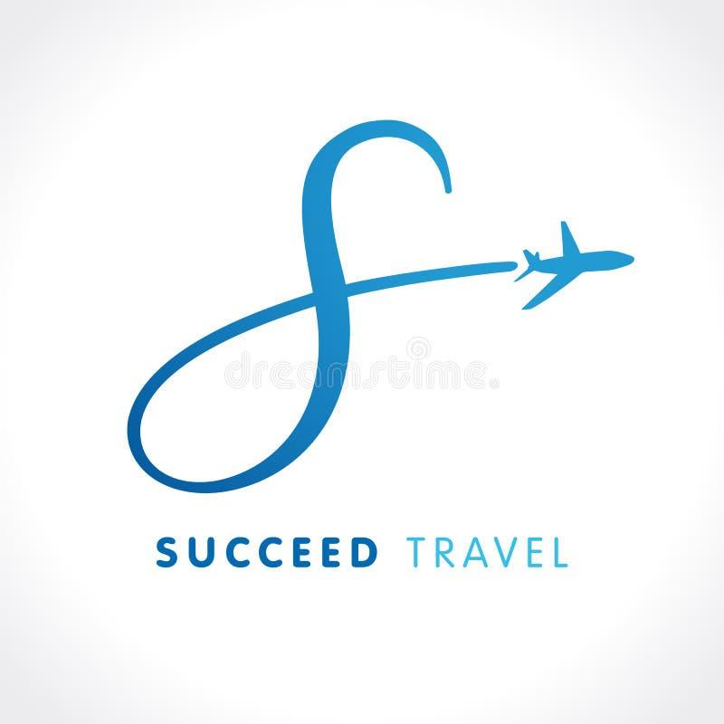 S het embleem van het de reisbedrijf van het brievensucces royalty-vrije illustratie