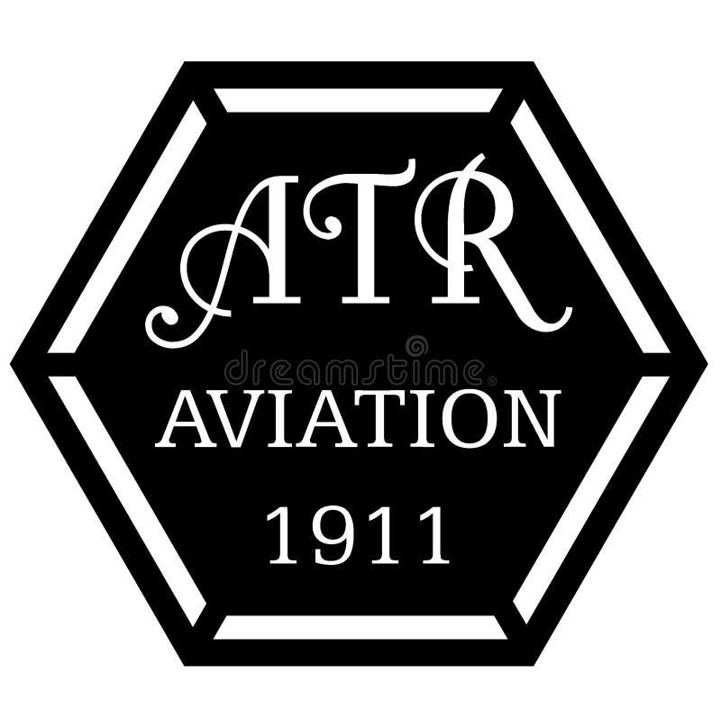 1910s het Embleem van de stijlluchtvaart stock illustratie