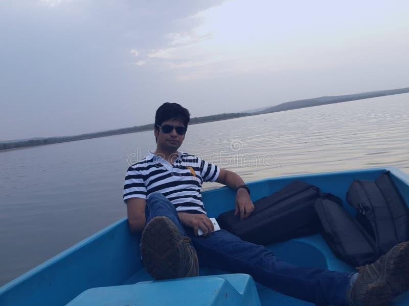 Boating at ghodazhari royalty free stock photos