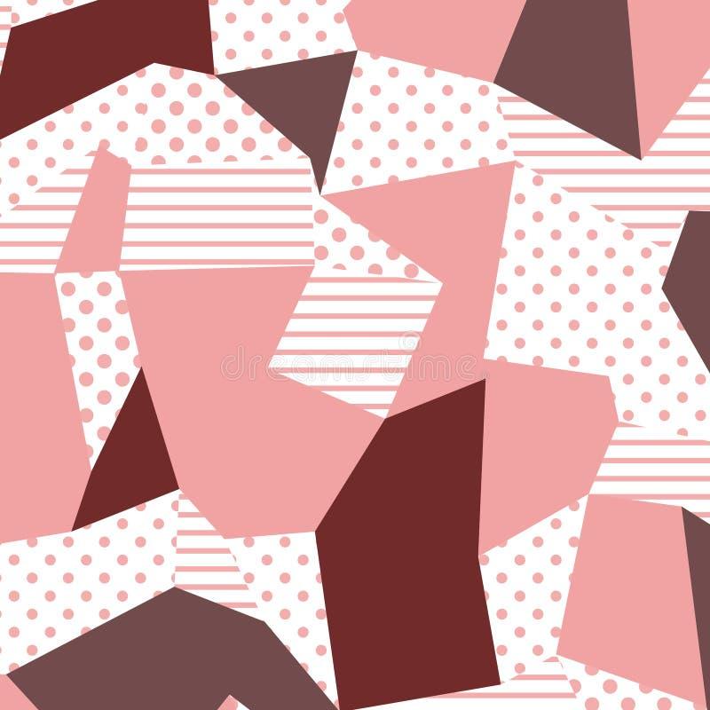 80s i 90s retro styl Memphis wzór Wykazywać tendencję abstrakcjonistycznego projekt z geometrycznymi kształtami ilustracja wektor