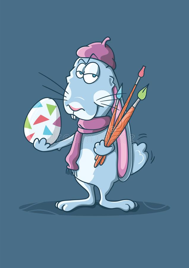 A bunny artist stock images