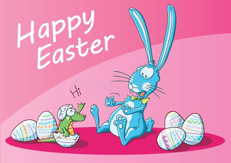 A bunny surprise for easter stock photos