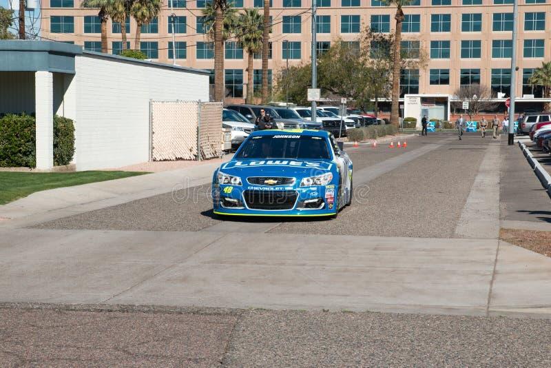 ` S Jimmie Johnson Day de NASCAR no Arizona foto de stock royalty free
