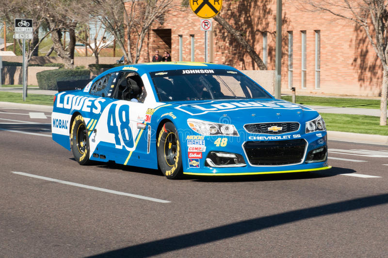 ` S Jimmie Johnson Day di NASCAR in Arizona fotografia stock libera da diritti