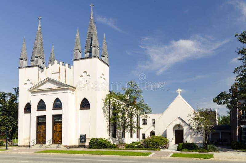 ` S Johannes Episkopale Kirche, Fayetteville NC 28. März 2012: vorstehend circa Gemeindekirche 1817 stockfotos