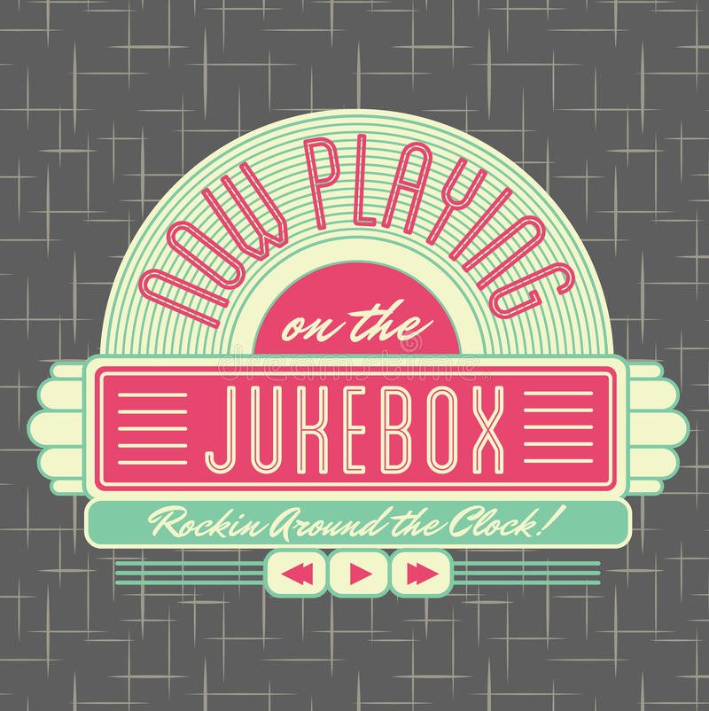 1950s Jukebox Style Logo Design. All fonts shown are for visual purposes only and freely availalble for open license use from sources such as google fonts