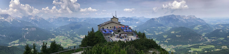 ` S Kehlsteinhaus alias Eagle Nest-Panorama, Deutschland stockbilder
