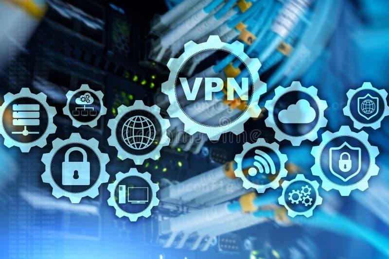 S?ker VPN anslutning Virtual Private Network eller internets?kerhetsbegrepp stock illustrationer