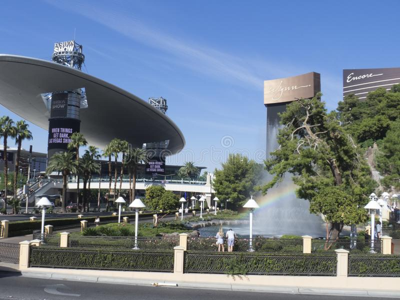 S Las Vegas Blvd, Las Vegas, EUA imagem de stock