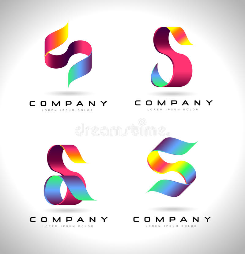S Letter Logo Design stock illustration