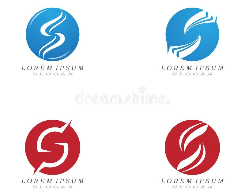 S letter logo and symbol design vectors. S letter logo and symbol design vectors abc alphabet art brand branding business company creative decoration element stock illustration