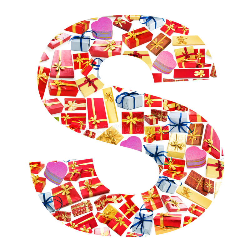 Download S Letter   Made Of Giftboxes Stock Photos - Image: 24457173