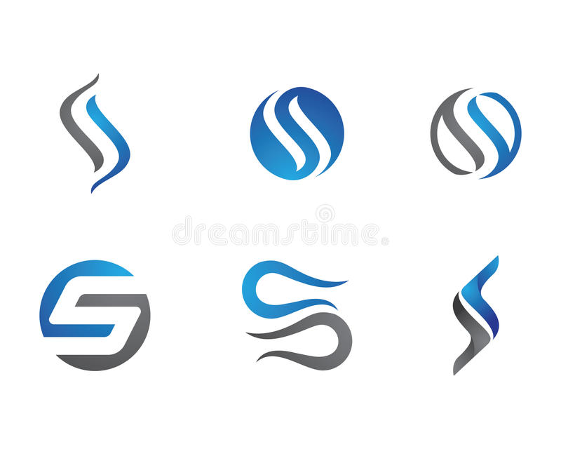 S Letter and S logo. Letter and number logo for other company stock illustration