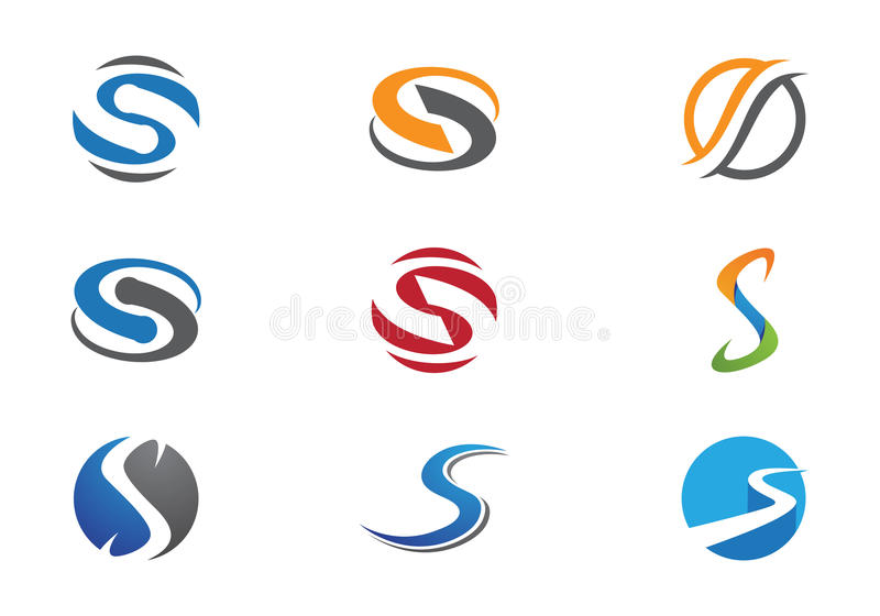 S Letter and S logo. Letter and number logo for other company royalty free illustration