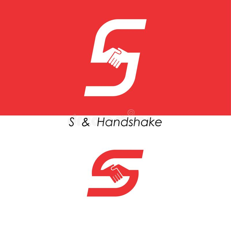 S - Listowy abstrakcjonistyczny ikony & ręka loga projekta wektoru szablon Herbata ilustracja wektor