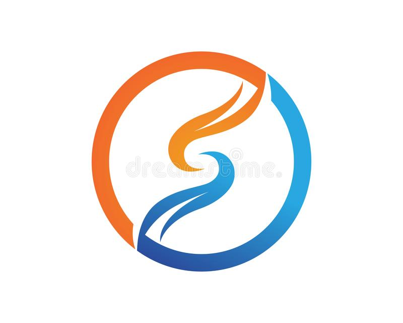 S loga projekta Biznesowy korporacyjny listowy wektor royalty ilustracja