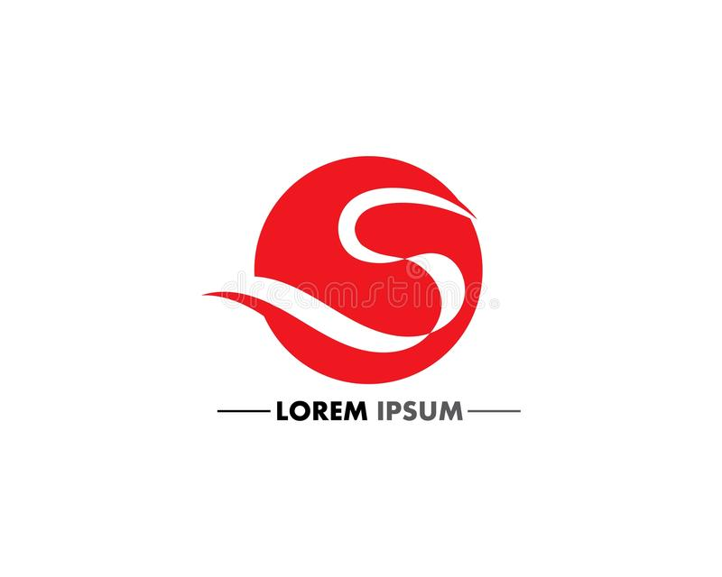 S logo Biznesowy korporacyjny listowy projekt ilustracji