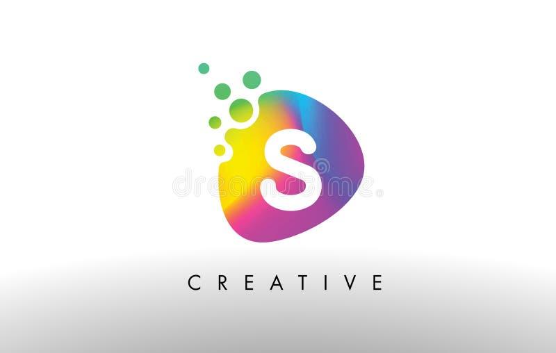 S Logo Design Shape colorido Icono abstracto púrpura de la letra de la forma ilustración del vector