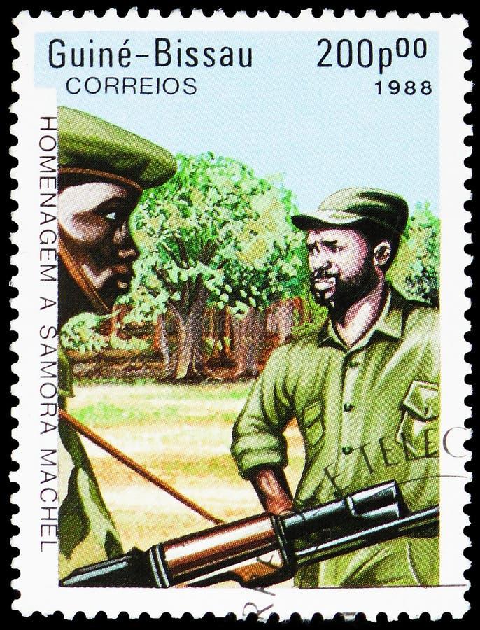 S Machel 1933-1986, presidente de Mozambique, serie de Samora Machel, circa 1988 foto de archivo