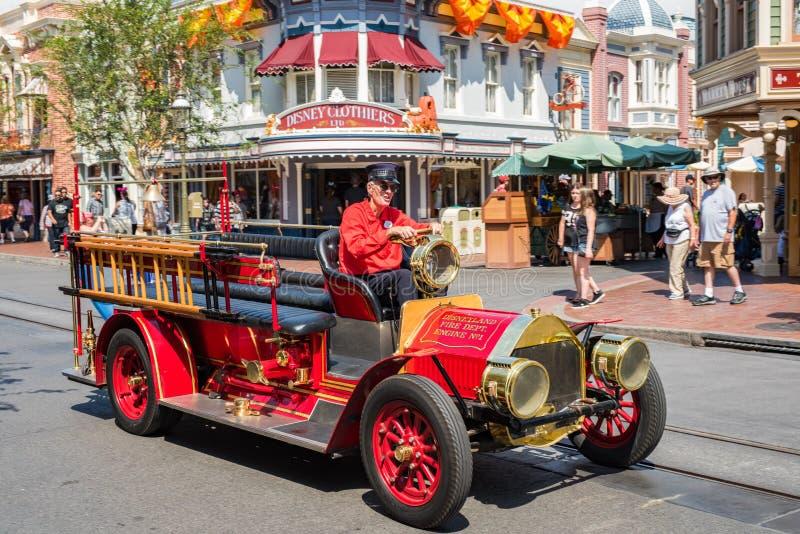 ` S Main Street Etats-Unis de Disneyland à Anaheim, la Californie image libre de droits