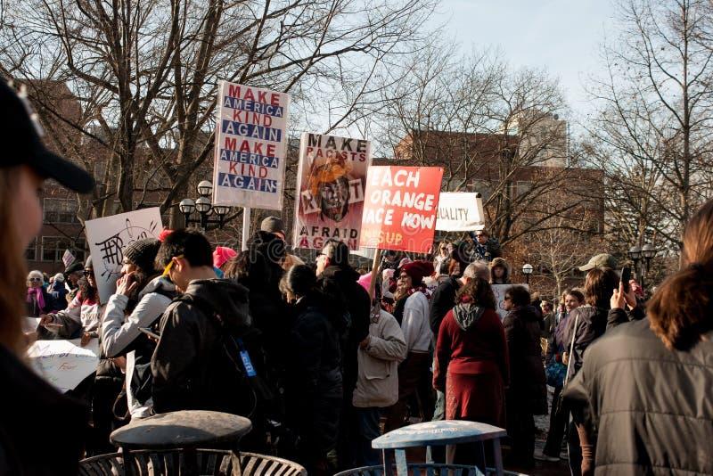 ` S março das mulheres de Ann Arbor Michigan 2018 foto de stock