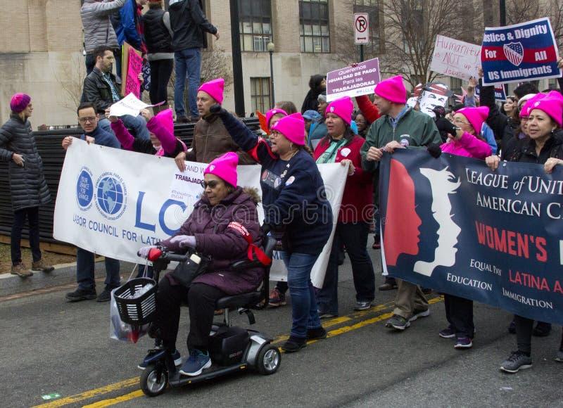 ` S março das mulheres em Washington fotos de stock