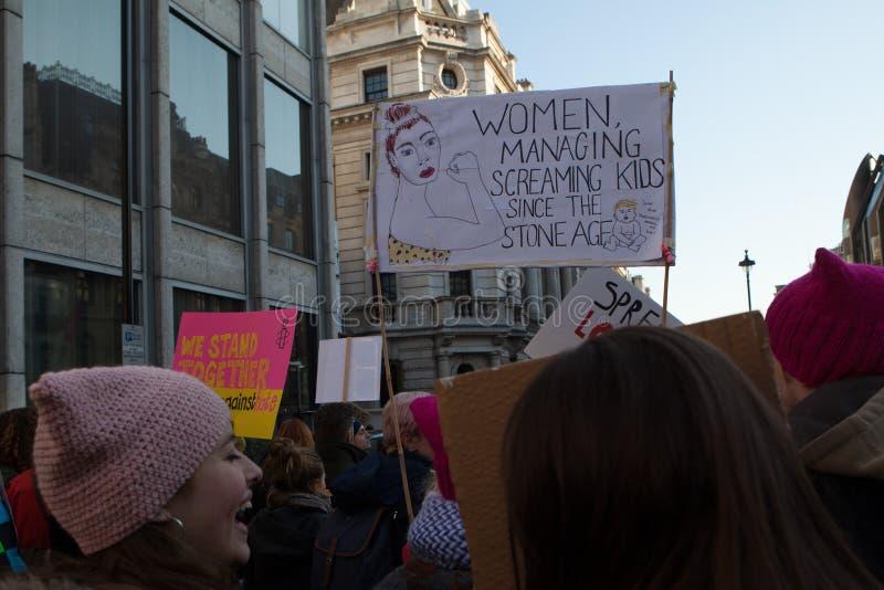 ` S março Londres das mulheres, 2016 fotos de stock
