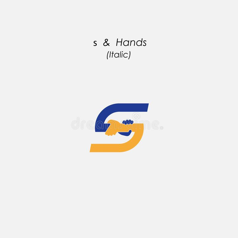 S - Marquez avec des lettres l'icône abstraite et remettez le calibre de vecteur de conception de logo bus illustration libre de droits